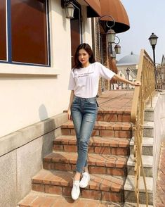 korean fashion outfits 157 The post korean fashion outfits 157 appeared first on Casual Outfits. Korean Fashion Trends, Korean Street Fashion, Asian Fashion, Look Fashion, Girl Fashion, Fashion Outfits, Fashion Styles, Korea Fashion, Trendy Fashion