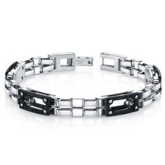 Mens Intricate Double Chain Design Stainless Steel Bracelet. BUY NOW AND SAVE! Use Promo Code Pin9175 AND SAVE 15% ON YOUR ENTIRE ORDER!