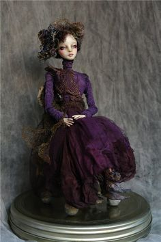 """Night fairy"" material Darvi ROCK sitting height 37 cm, height dolls ... - Puppet Area"