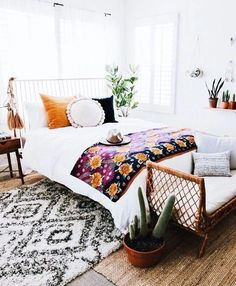 Most Popular Colorful Bohemian Bedroom Diy Ideas Trendy Bedroom, Cozy Bedroom, Bedroom Inspo, Bedroom Colors, Modern Bedroom, Bedroom Ideas, Bedroom Storage, Bedroom Designs, Minimalist Bedroom