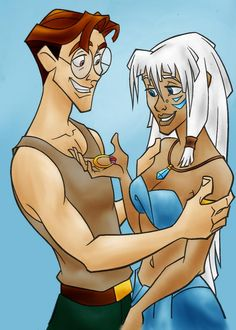 """Next in the Disney Couples Series! Milo and Kida from Disney's """"Atlantis"""" So =DisneyDreamers is having a club project of Disney couples and I'. DC - Milo and Kida (color) Kida Disney, Princesas Disney, Disney Art, Walt Disney, Disney Couples, Disney Girls, Disney Love, Disney Magic, Disney Stuff"""