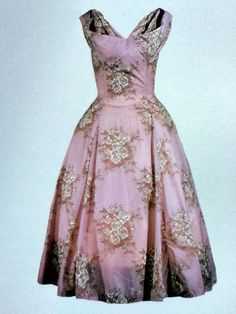 Horrockses nylon cocktail dress, late 1950s