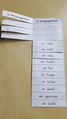 Eine kleine Übung zur und Vergangenheit mit verschiedenen Verben versteck… A little exercise on the and past with different verbs is hidden in this folding card. It can be glued into the magazine and … Education Logo, Elementary Education, Education Quotes, I School, Primary School, German Grammar, German Language Learning, Educational Websites, Dyslexia