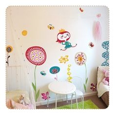 lovely! In my Garden Moveable, PVC free, Fabric Wall Stickers