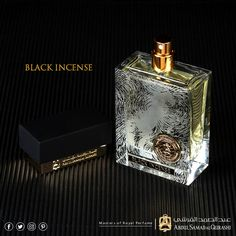 BLACK INCENSE #abdulsamadalqurashi #perfumes #blackincense #black #oud #fragrance #scent Perfume Oils, Perfume Bottles, Niche Design, Long Lasting Perfume, Cosmetic Containers, Incense, Flask, Straight Razor, Dior Couture
