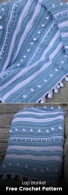 Lap Blanket Free Crochet Pattern #crochet #crafts #homedecor #handmade Knit Or Crochet, Crochet Crafts, Yarn Crafts, Crochet Projects, Free Crochet, Crochet Blanket Patterns, Crochet Blankets, Afghan Crochet, Baby Staff