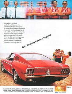Classic Car Ad Ford Mustang Fastback GT - 1968 -  More: http://www.autorevue.at/autowerbung