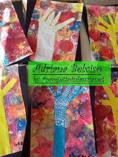 L'albero che c'é nel nostro cuore di Adriana Belviso Tornata dall'Atelier di Bergamo, condotto da Micol Blanchard, ho portato a scuola i lavori da me realizzati e li ho appesi alla parete in attesa dell'arrivo dei bambini.