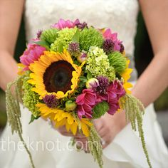 the bridal bouquet to go with the other one. love sunflowers but too much green for me.
