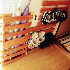 靴収納/ダイソー/セリア/すのこ/傘立てDIY/手作り…などのインテリア実例 - 2014-12-23 14:41:35   RoomClip(ルームクリップ)