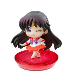 Sailor Mars! Japanese Petit Chara Sailor Moon Disk Models / Figures! Buy here! http://www.moonkitty.net/buy-bandai-tamashii-nations-sailor-moon-sh-figuruarts-figures-models.php #SailorMoon