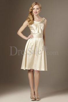 Simple yet Elegant Cowl Bridesmaid Gown