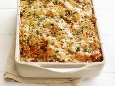 Mexican Tortilla Casserole recipe from Ree Drummond via Food Network