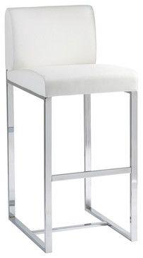 contemporary bar stools. Addison Barstool, White - Contemporary Bar Stools And Counter Inmod