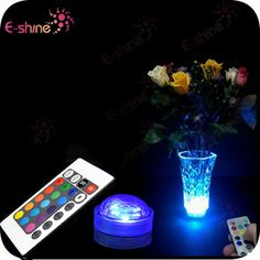 Factory Wholesale Remote Controlled Submersible Led Lights Floral