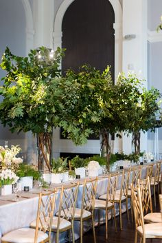 Impactful and Modern, Green and White Wedding at Sagamore Pendry in Baltimore - Sweet Root Village B Tree Centrepiece Wedding, Tree Branch Centerpieces, White Wedding Decorations, Wedding Reception Flowers, Branch Decor, White Wedding Flowers, White Weddings, Wedding White, Romantic Weddings
