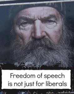 Freedom of speech is for everyone...not just those you agree with 100% of the time.  Everyone means each and every individual.  Anything less than that is unconstitutional.