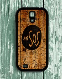 5 Second Of Summer Fans Quotes On Wood Samsung Galaxy S4   Samsung S4 Case