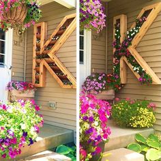 Love this oversized letter planter. Would need more drought resistant flowers…