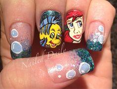 Little Mermaid Nails OHMYGODS I WANT THIS MANI SOOOO BAD!!!!!!!!!!!