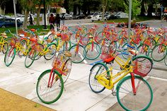 "Google offers its employees bikes to get around their ""campus"" great way to #stayfitsolymar"