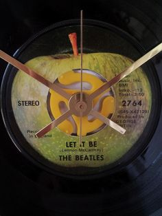 Beatles Let It Be 45RPM Record Art Clock by WildGooseChase on Etsy, $66.00