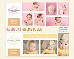 Instant Download Facebook Timeline Cover Template par PopuriDesign, $7.00