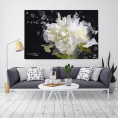 Blow Away on The Wind. Extra Large Floral Abstract by irenaorlov