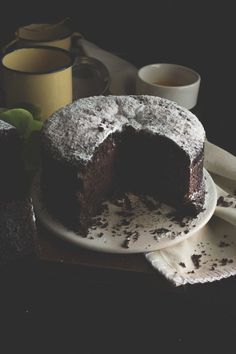 Torta integrale cioccolato, senza burro e senza uova_21 Healthy Cake, Vegan Cake, Healthy Food, Sweet Recipes, Cake Recipes, Dessert Recipes, Italian Desserts, Vegan Desserts, Stevia