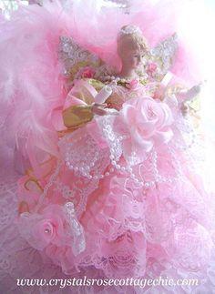 and <b>pink</b> angel tree topper glamorous gold and <b>pink</b> angle <b>christmas</b> ...