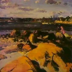 WIND ON THE BAY by John French Sloan