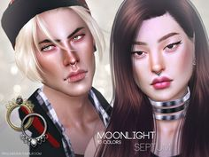 Moonlight Septum Nose Piercings for The Sims 4 Septum Nose Piercing, Ear Piercings, Helix Earrings Hoop, Sims 4 Tattoos, Sims 4 Piercings, Swarovski, Best Sims, Sims 4 Characters, Queen Makeup