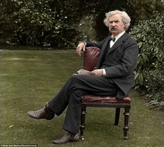 Amazing Civil War photos that have been colorized. This is Mark Twain.