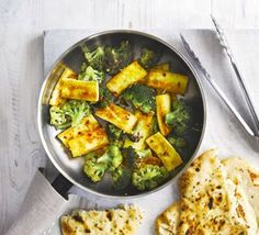 Spiced broccoli with paneer