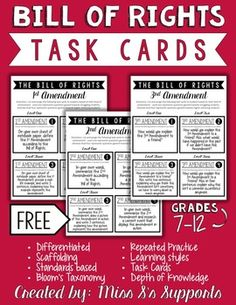 This task card activity plays to students' strengths because of the differentiated and Bloom's Taxonomy based questions that build upon each other. Four different levels of questions/tasks are included for students grades 7-12. **This is a preview of a full product that will be posted in the future.