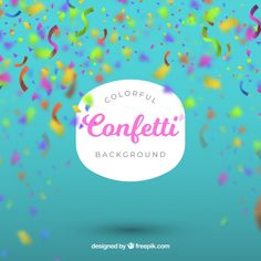 Colorful confetti background in blurred style Free Vector