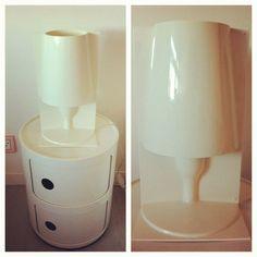 """@badgal_exie's photo: """"Nouvelle lampe et chevet Kartell  #kartell #decoration #voltex #design #lampe #bedside #pink #bedroom @kartell_official #table #lamp"""""""