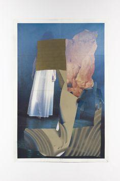 "Megan Greene. ""Sleepwalker"", 41"" x 27"", mixed media on paper, 2014"