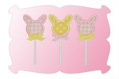Bunny Pop Applique ~ includes both single and triple bunny pop designs!