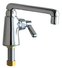 """Chicago Faucets - 349-ABCP - Single Hole Deck Mounted Pantry/Bar Faucet with 6"""" Cast Swing Spout"""