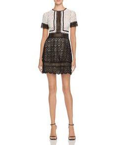 AQUA Mixed Lace Dress | Bloomingdales's