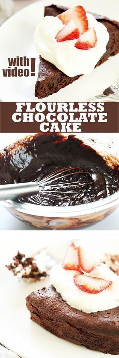 You'll never believe how easy it is to create your very own naturally gluten free flourless chocolate cake at home! No special ingredients or equipment.