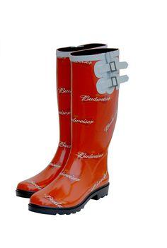 Neet Feet custom Ladies Rain Boot design for Budweiser #shoes #rainboots #Budweiser #beer