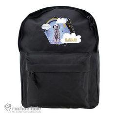 Personalised Rachael Hale Black Backpack - Dalmatian