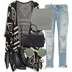 Untitled #1895 by dceee on Polyvore featuring Topshop, rag & bone, Yves Saint Laurent, ASOS and Ray-Ban