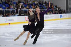 Kristsina Kaunatskaia and Yuri Hulitski of Belarus compete in the junior ice dance free dance free program during the ISU Junior Grand Prix of Figure Skating - Yokohama on September 11, 2016 in Yokohama, Japan.