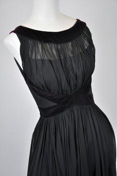 black chiffon grecian dress by forcorners on Etsy