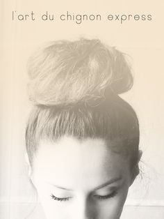 She Lets Her Hair Down    My summer style!!  I love my top-head bun for the poooool!