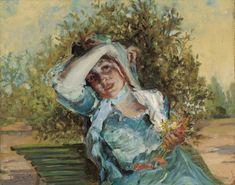 Emilio Sala Francés. La chica de las flores, 1906. Colección Carmen Thyssen-Bornemisza en préstamo gratuito al Museo Carmen Thyssen Málaga