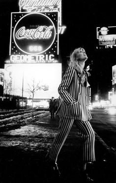themanhattansilver: Nico in Times Square